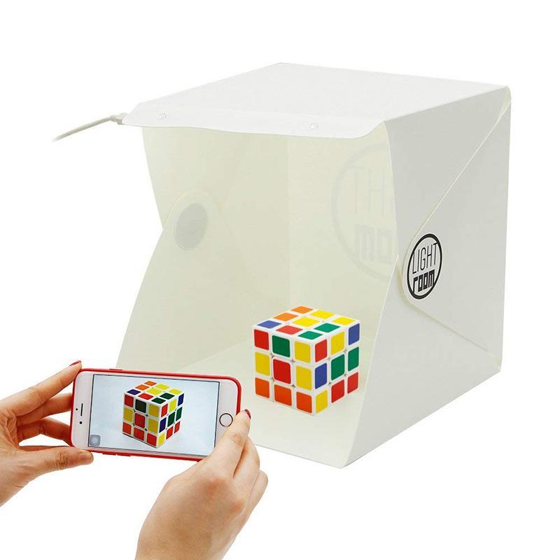 Mini Photo Studio Boxs Rooms Fotografía de telón de fondo Portátil Lightboxs Luz incorporada LED Photo Boxs Fotografía de fondo Telón de fondo Softbox Tent Kit
