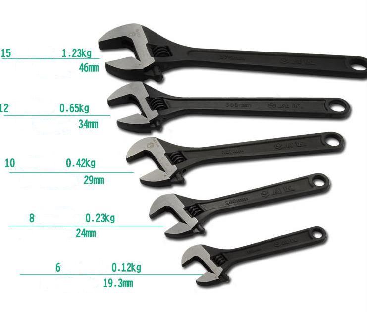 Универсальный RDEER Разводной ключ Гаечный 6 «/ 8» / 10 «/ 12» Универсальный ключ для автомобилей Механический инструмент для ремонта