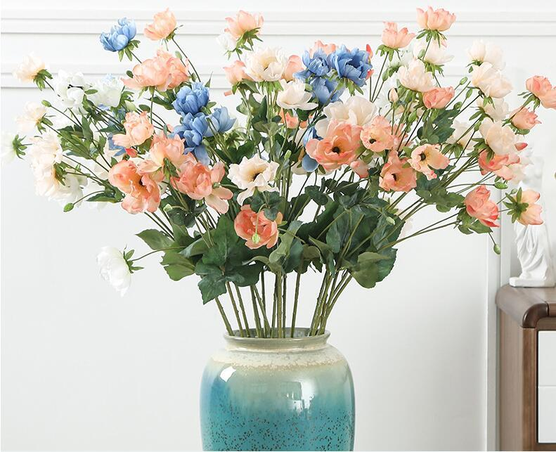 süslemeleri anemon çiçekleri yapay ev düğün sahte çiçek yaprakları olmadan insan yapımı çiçekler nakliye damla kuru