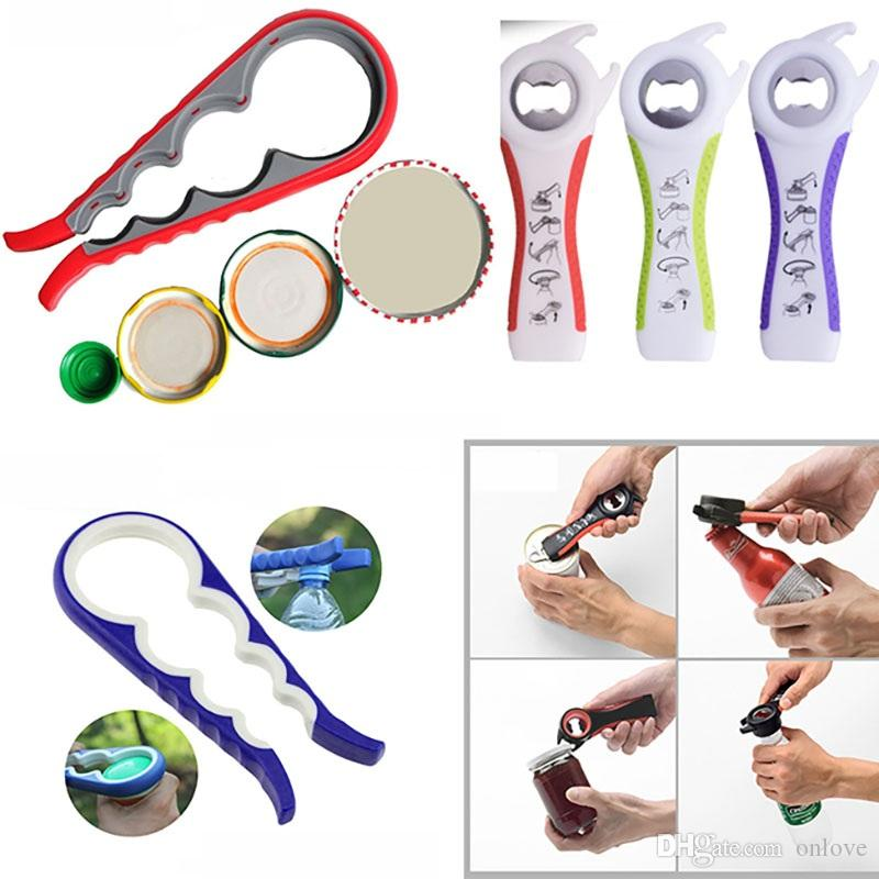 5 In1 And 4 In1 Multifunction Bottle Openers Tin Jar Can Jam Wine Opener With Seals Lids For Seniors Kitchen Dining Bar Tool XD20135