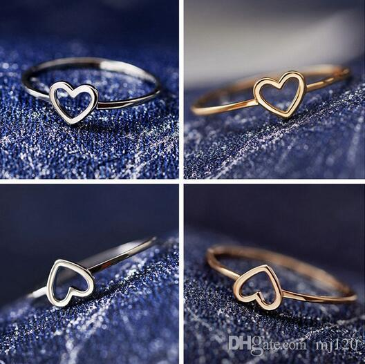 6-10 New Cute Little Heart-shaped Love Small Rings Popular Party Rings Best Gift For Girls