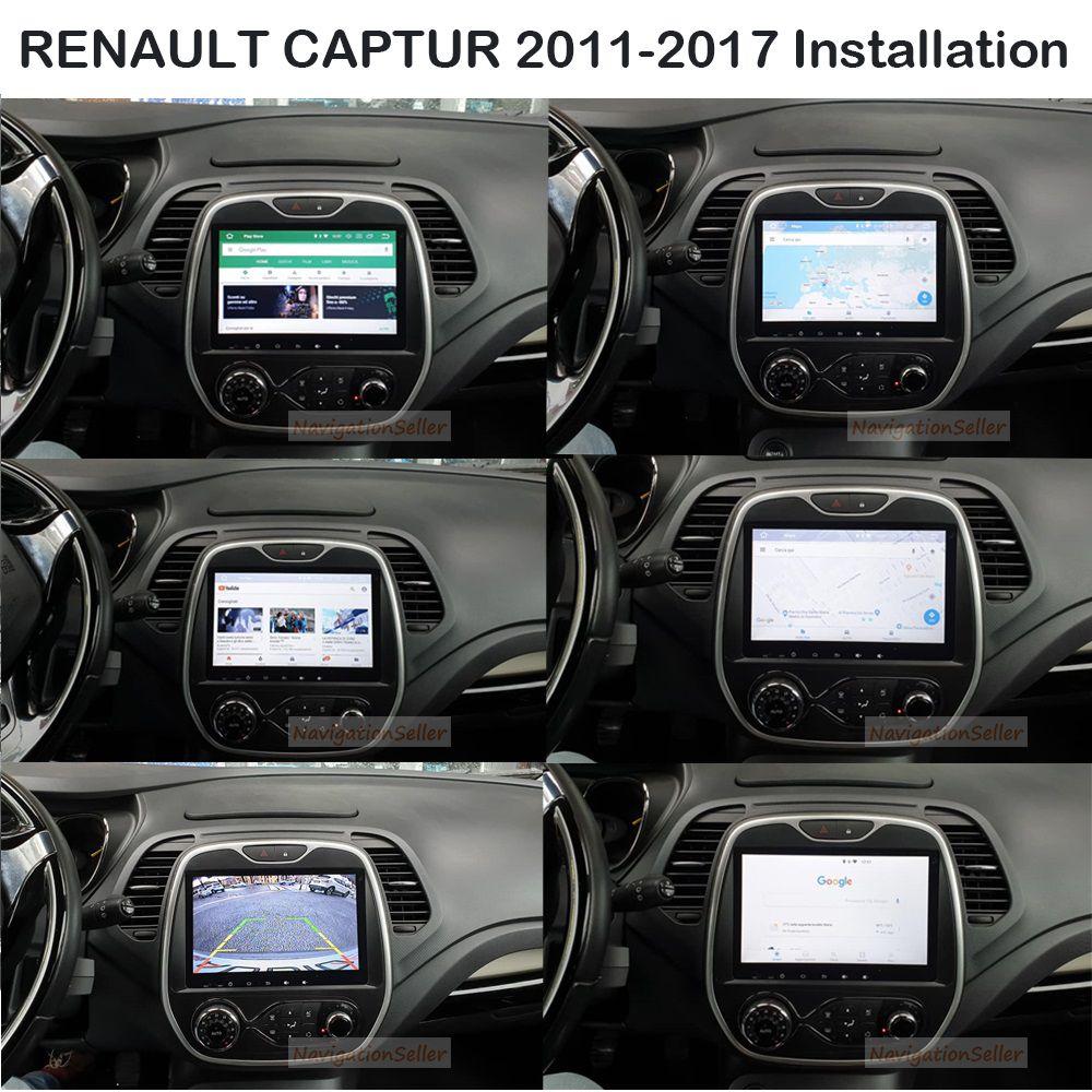 RENAULT 캡쳐 2011 2012 2013 2014 2015 2016 2017에 대한 9.0inch Android9.0 RAM 4G ROM 32G 자동차 DVD 라디오 GPS 항법 중앙 멀티미디어