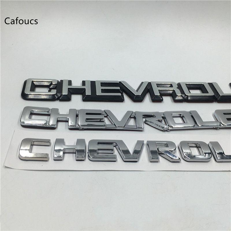 Pour Chevrolet Lacetti Captiva Cruze Aveo Spark Emblem Badge coffre arrière Nameplate Boot Logo Autocollant
