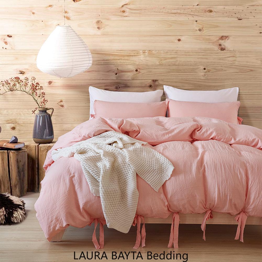 Colore Grigio Lace King Size Europa Bedding Set di lusso Copripiumino Federa Set letto queen Rosa Biancheria da letto 3pcs Consolatore Lenzuola