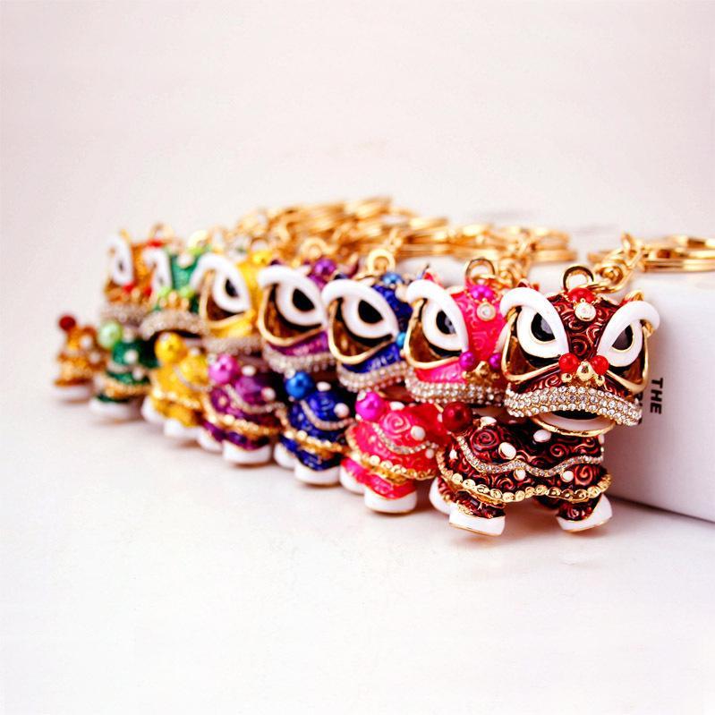 Mode kreative geschenke exquisite löwentanz löwe feng shui kylin schlüsselanhänger tasche schnalle auto anhänger Chinesischen stil