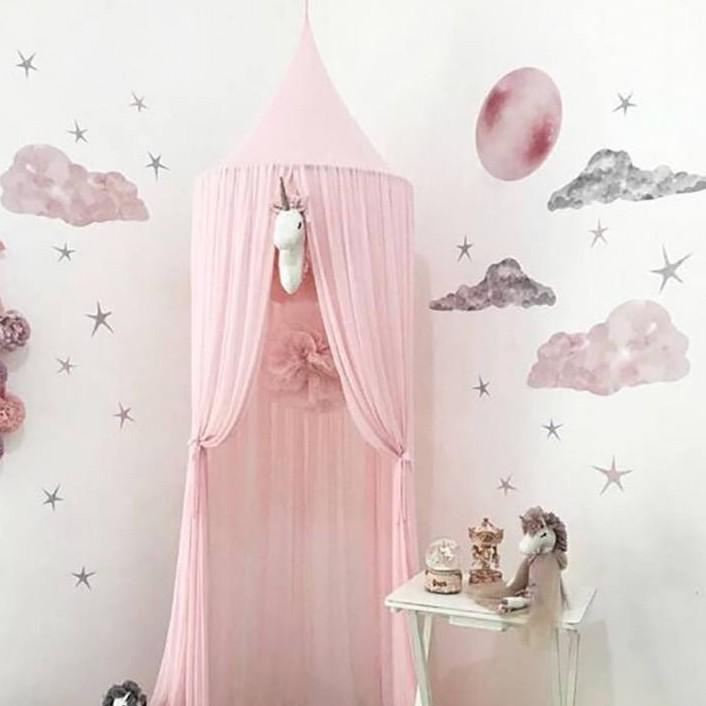 New Nordic Chiffon Mosquito Net Hanging Dome Princess Bed Canopy Ins Style Kids Playing Tent for Nursery Kids Room Decoration