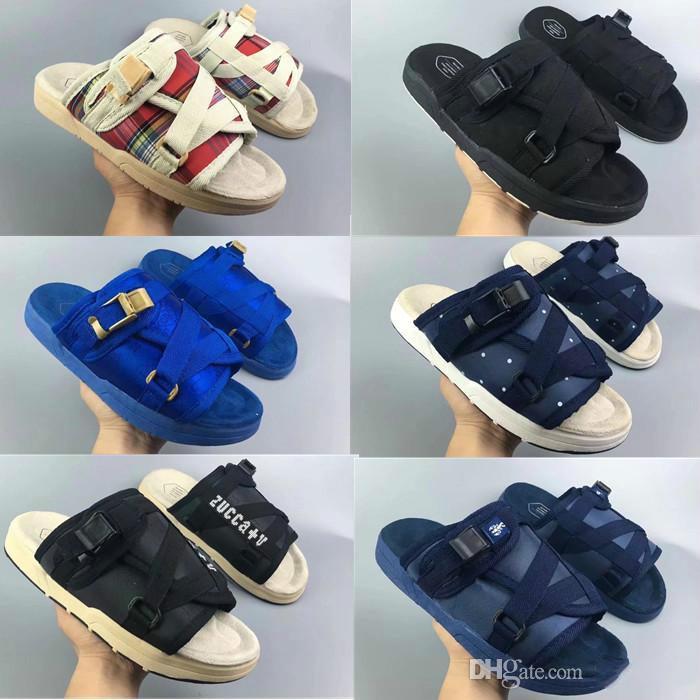 2018 лето горячая распродажа Visvim мужские и женские тапочки модные туфли любители повседневные тапочки пляжные сандалии уличные тапочки хип-хоп сандалии