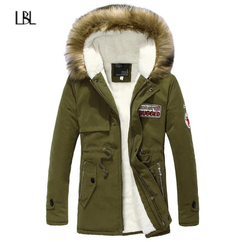 Hiver Parka Hommes Automne chaud épais Les hommes de veste Fleece Marque coupe-vent Outwear Manteau Homme hoodies Vestes MX200319