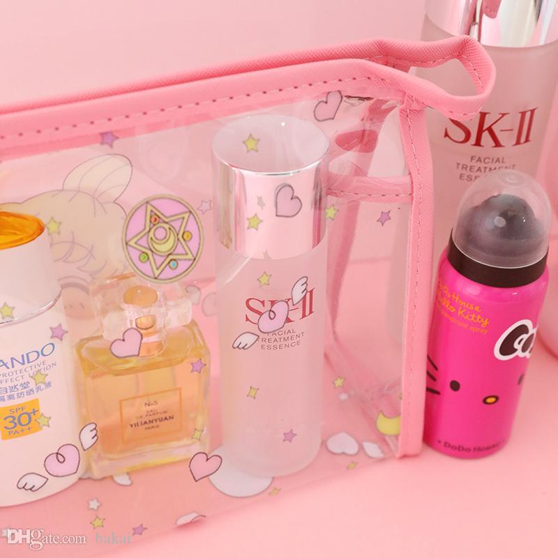 Cosmétique étanche cosmétique dame gros sac capacité sac de rangement petit sac de toilette de voyage portable transparent qsura