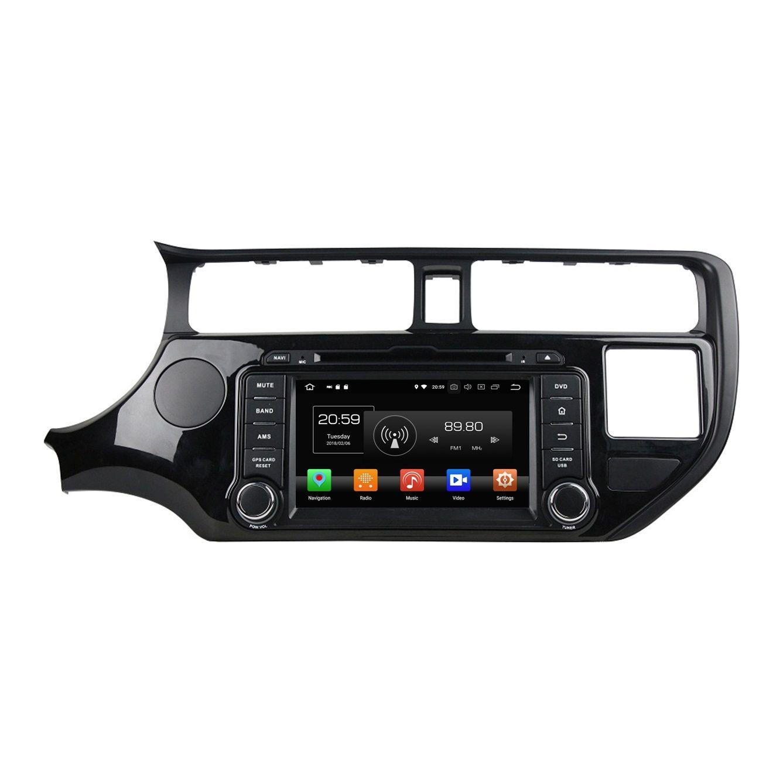 "Octa Core 2 din 7"" Android 8.0 Car dvd Player for Kia K3 Rio 2011 2012 Car Radio GPS WIFI Bluetooth USB DVR Mirror-link 4GB RAM"