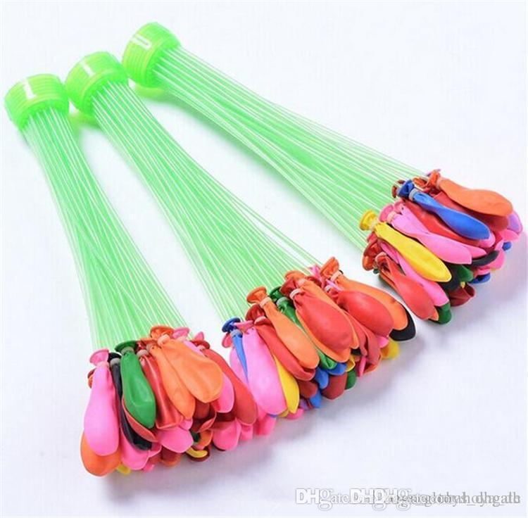 DHL Water Filled Balloon Toy Bunch of Balloons Kid Magic Water Balloons Toys Filling Water Ballons Games Party 1pcs=3bunches= 111balloons