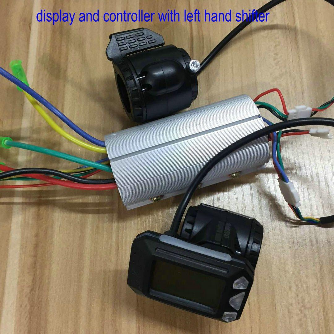karbon fiber scooter / elektrik bisiklet accessiryFolding bisiklet parçaları LCD ekran + gaz + küçük boyut denetleyicisi 24V36V48V350W