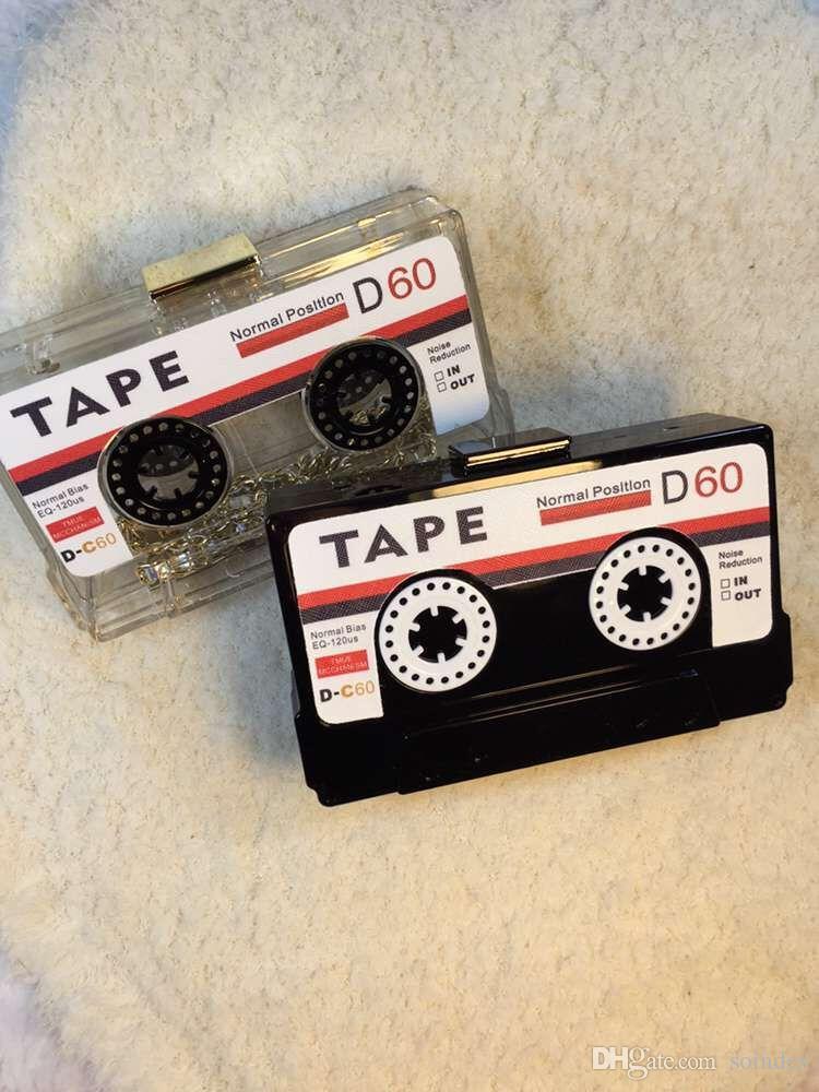 прозрачная лента кассеты мешок вечера сцепления Personality акрилового жесткий ящик сцепления высокого класса мешок руки междусобойчик кошелек сумки