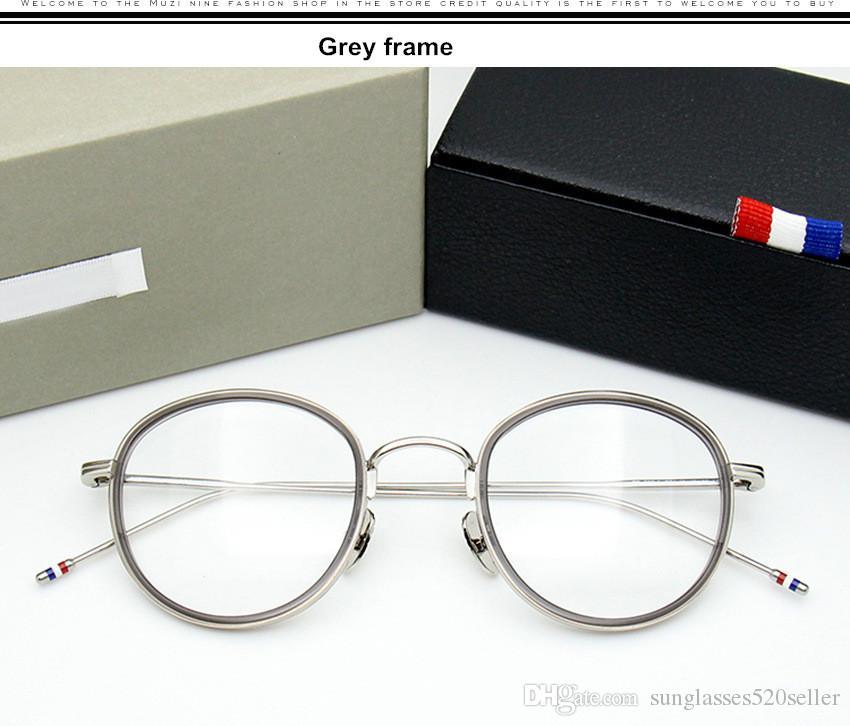 Marchio di qualità rotonda telaio in lega TB905 occhiali cornice uomini retro occhiali donne miopia occhiali da lettura Oculos De Grau