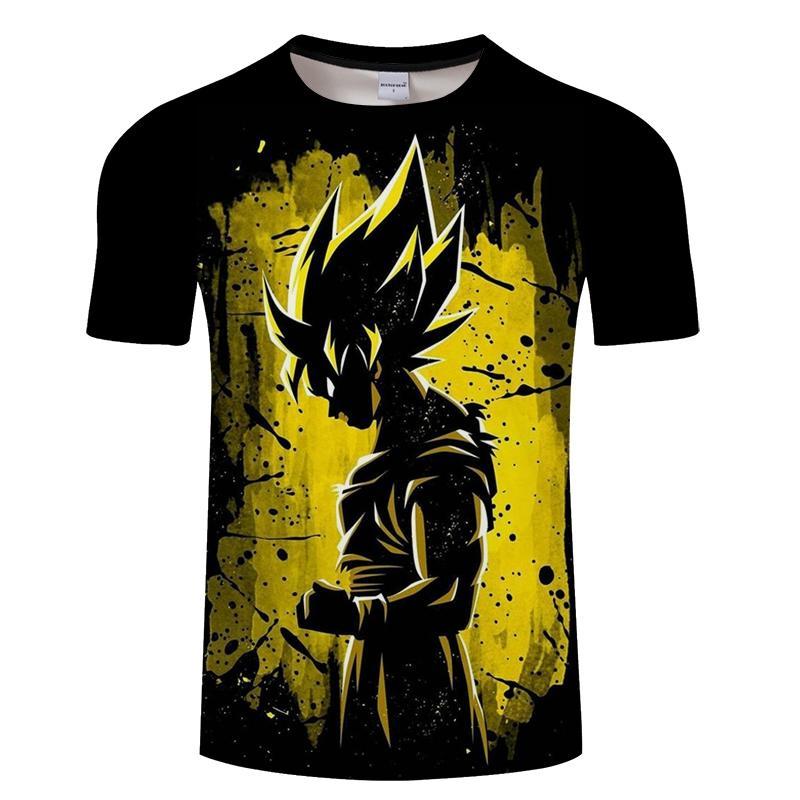Dragon Ball Ultra İçgüdü Süper Saiyan T-shirt Erkekler Yaz Dragon Ball Z Tişörtleri Komik Anime Stranger Şeyler Çocuk Goku 3d T Gömlek