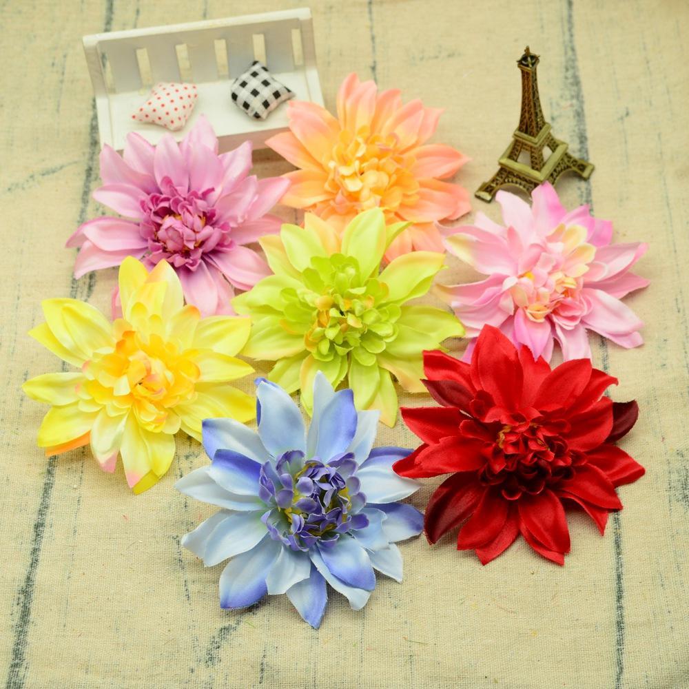 11CM Testa di gerbera di seta fai da te un berretto regali decorazioni natalizie per la casa matrimonio fiori artificiali piante finte accessori da sposa