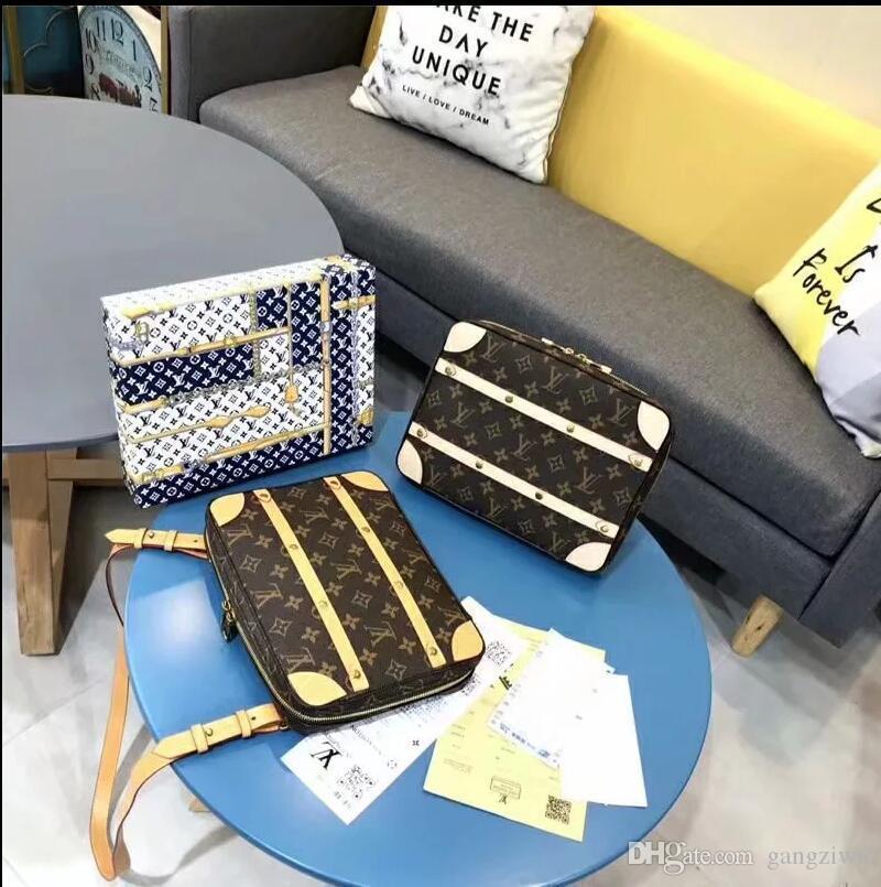 2020 shoulder bags leather bucket bag women famous brands designer handbags high quality flower printing crossbody bag B007