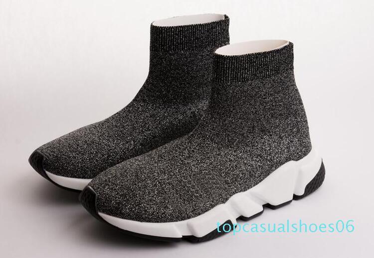 Calcetín zapatos de lujo zapatillas de deporte de alta calidad del diseñador Speed Trainer calcetín Carrera Corredores hombres y las mujeres negro de zapatos de lujo