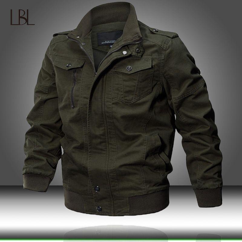 Men Winter Jacket Cotton Bomber Jackets Coat Mens Pilot Jacket Men's Casual Windbreaker Male Autumn Clothing