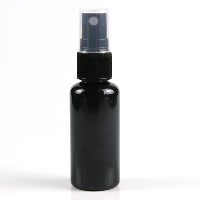 30 ML الأسود إعادة الملء الجميلة رش رذاذ زجاجة عطر 1OZ البخاخ زجاجة مستحضرات التجميل بخاخات الرذاذ PET زجاجات مضخة