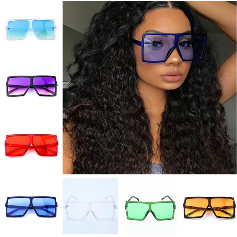Fashion Designer Sunglasses estate Big Square Telaio Occhiali da sole donne Occhiali da sole Retro dell'annata di alta qualità All'aperto Beach Occhiali da regalo
