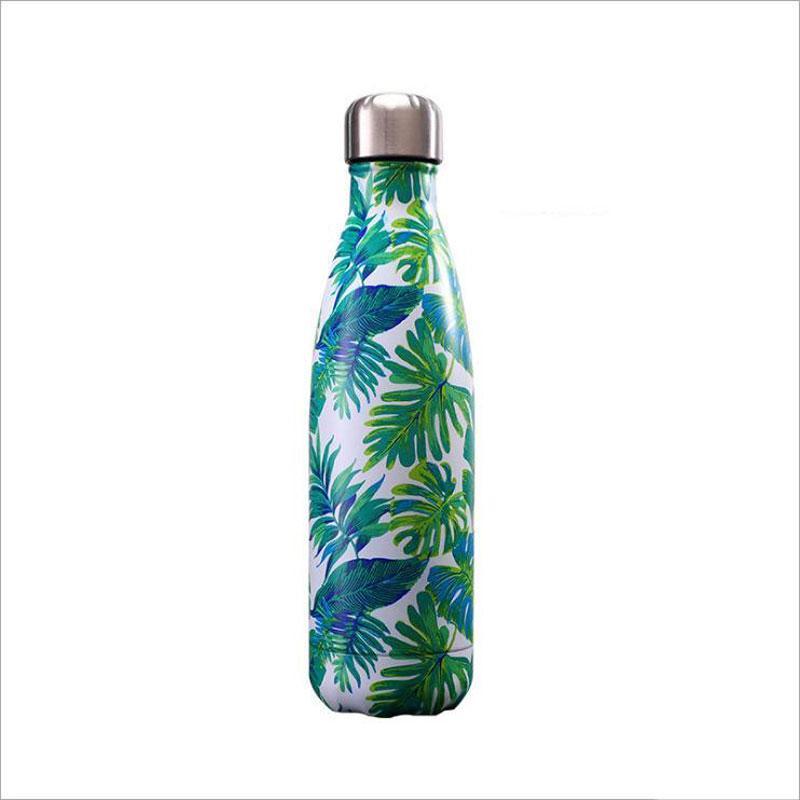 Fashiona bouteille de Coke en acier inoxydable, Star / Bois Grain / Gradual Prémur isolé sport étudiant Bouteille d'eau, Electroplated Violet