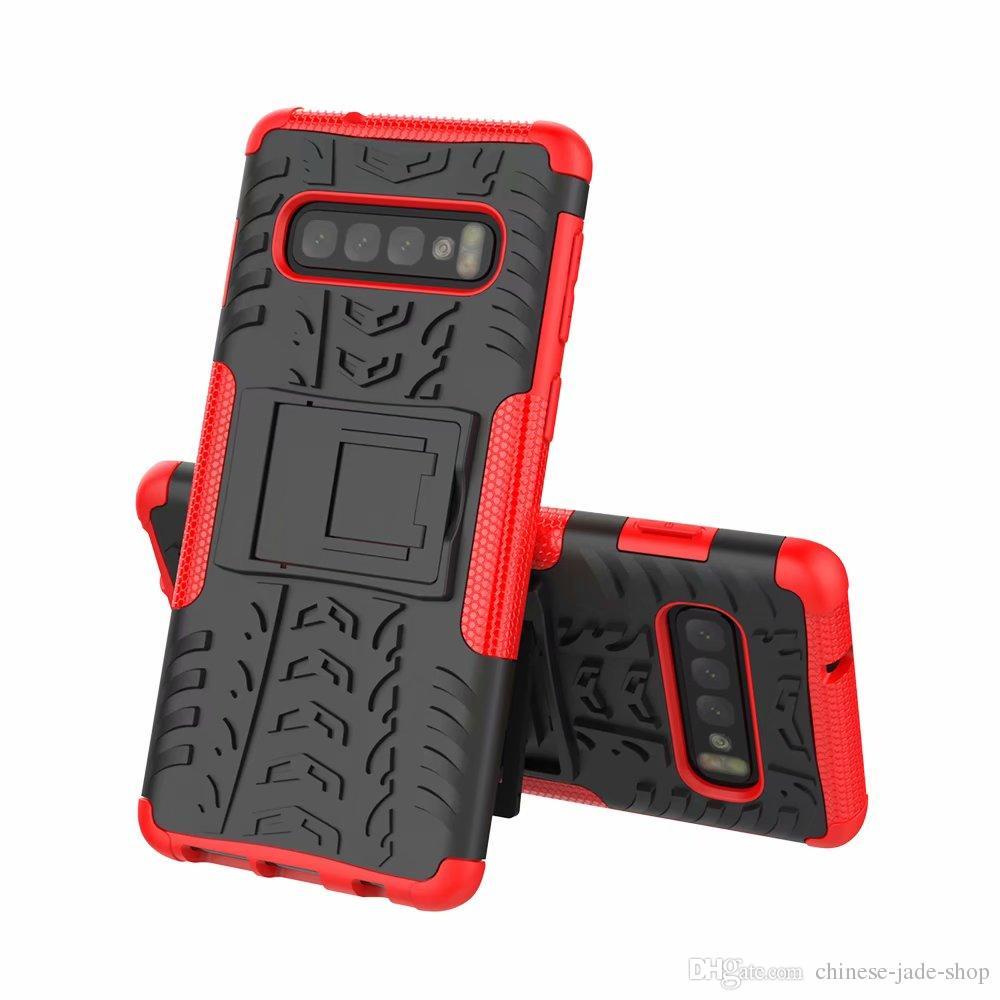 Hybrid Kickstand Impactor Rugged Heavy Duty TPU + PC Capa para Samsung Galaxy S10E S10 Plus J6 J4 Plus A6S A8S 160 PCS / LOT