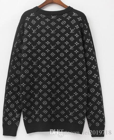 hommes chandails de conception luxe tortue vêtements pour hommes d'impression du cou M pull veste femme manches longues étiquette de qualité Nouveau