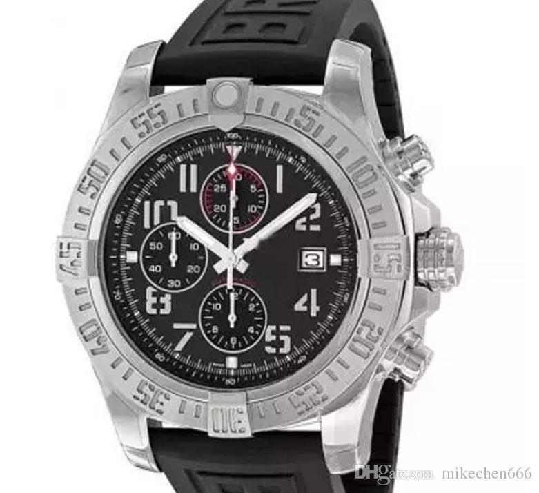 2019 горячая распродажа мода мужские часы супер мститель II 1884 кварцевый механизм хронограф мужской резиновый ремешок мужские часы A133711 наручные часы