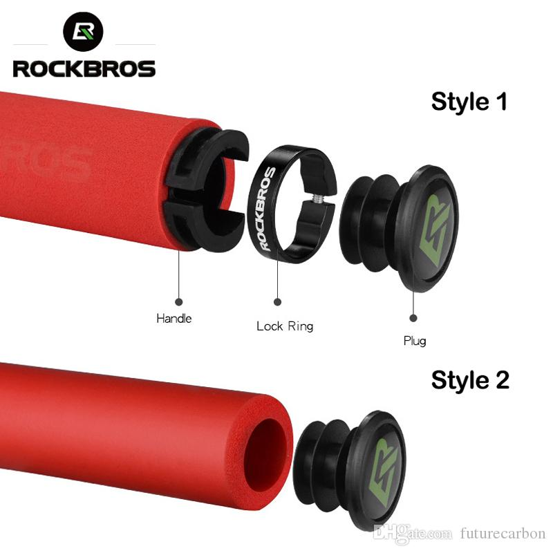 ROCKBROS Bike Bicycle Grips Silicone Sponge MTB Bike Handlebar Grips BMX Soft