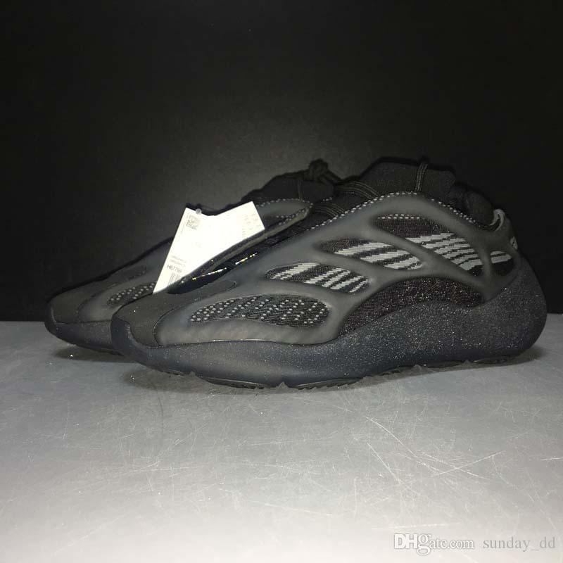 En Yeni Kanye West 700 V3 Alvah Siyah Azael Koşu Ayakkabı 3M Yansıtıcı Dalga Runner Otantik Erkek Kadın Spor Sneakers ile Kutusu H67799