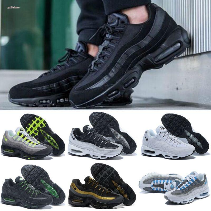 Nike air max 95 Ucuz Gym Kırmızı OG Mens Üniversitesi Altın Lazer Fuşya Dereceli Beyaz Mavi Klasik Siyah Spor Sneakers 40-45 Bred Koşu Ayakkabıları