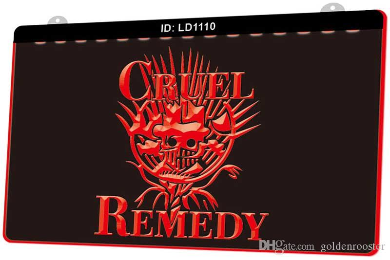 LD1110 Cruel Remedy New 3D Engraving LED Light Sign Customize on Demand Multiple Color