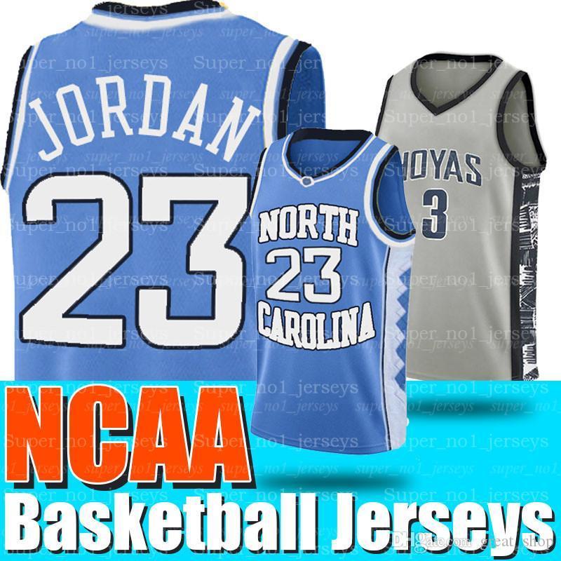 NCAA North Carolina 23 Michael Jersey All Iverson 3 Georgetown Hoyas College Basketball-Trikots