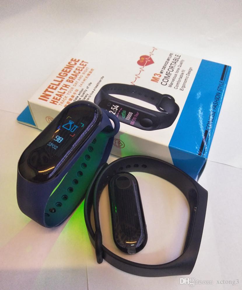 M3 inteligente Pulseira LEFUN SAÚDE USB Bluetooth de Fitness Rastreador Assista Freqüência Cardíaca pedômetro Empurre Design Mensagem Pulseira Retail Para Android