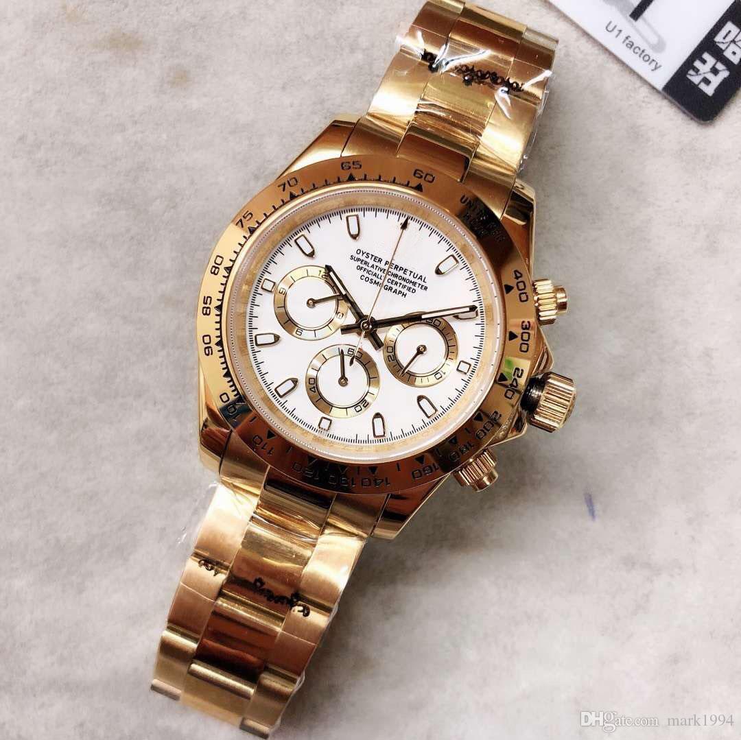 Тона больше стекла ремешок продажа мужские автоматические мастер-часы сапфировые движения серии 2020 стиль золота простой M116519 сталь горячая полная мужская WATC NWDU