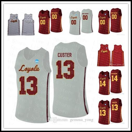 Bon marché Loyola Chicago Ramblers College Basketball 13 Clayton Custer 25 Cameron Krutwig Ingram Jackson Marques cousues Jerseys Couse Sale