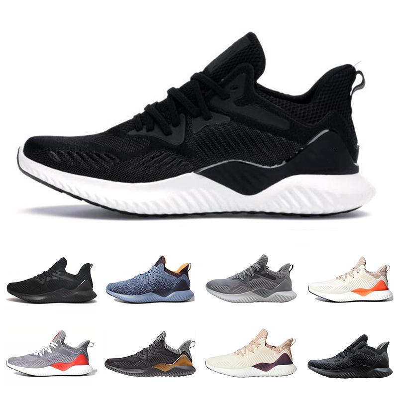 Core Negro AlphaBounce Más allá de los zapatos para hombre Gris Raw Hi Res Naranja carbono lino color crudo Tint zapatillas de deporte del diseñador de los hombres de las mujeres 36-45 Ejecución de los deportes