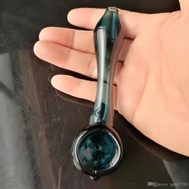 Este tubos de alta calidad de color de vidrio, tubos de vidrio al por mayor de tubo quemador de aceite de cristal del aceite de pipa de agua del aparejo de humos del envío gratuito