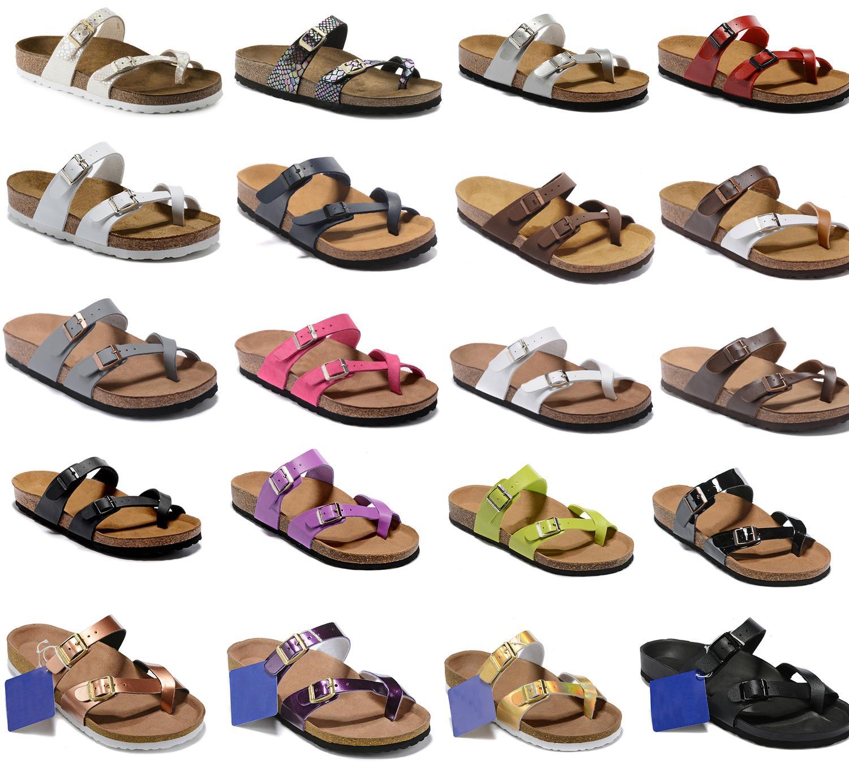 2020 2019 nuevo estilo de cuero de gamuza de playa del verano de tirón del deslizador sandalias de los fracasos de las mujeres zapatos de los hombres de color Diapositivas plano ocasional envío
