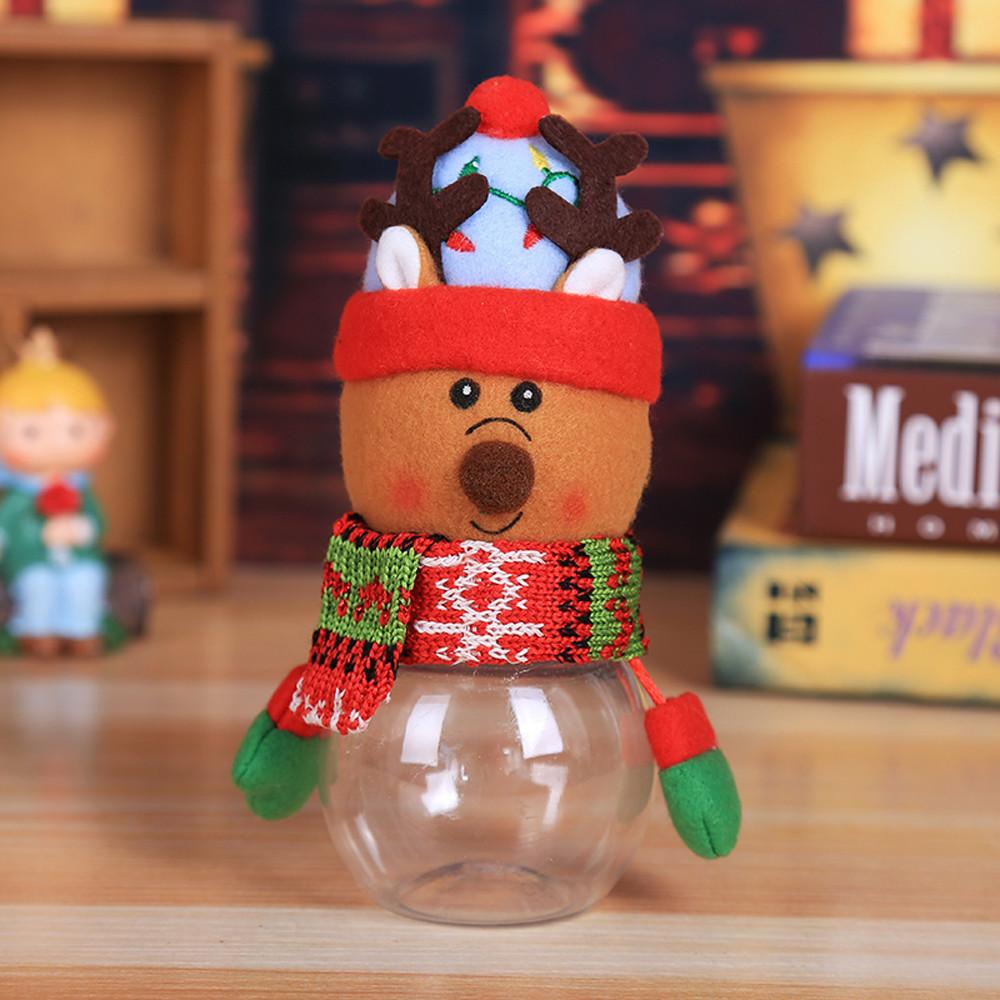 أطفال أطفال هدية عيد التفاف الحلوى جرة تخزين زجاجة سانتا حقيبة الحلو أكياس وصناديق السنة الجديدة # 20