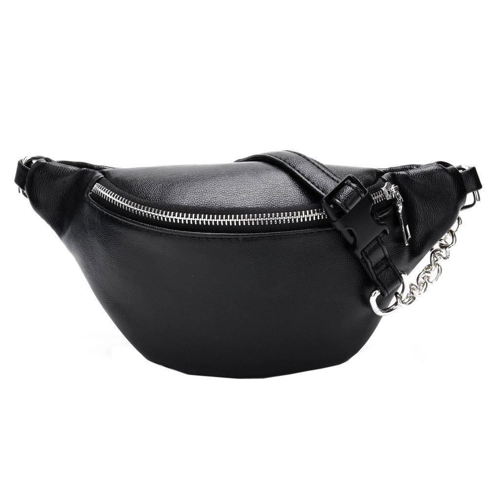 Kadınlar Göğüs Çanta Moda Zincir Deri Çantası Omuz Çantası Bayan Büyük Kapasiteli Fermuar Telefon Para Bel S20326 Paketleri