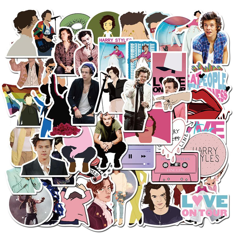 50 Pcs Skateboard Stickers Harry Styles For Car Laptop Fridge Helmet Stickers Pad Bicycle Bike Motorcycle PS4 Notebook Guitar Pvc Decal