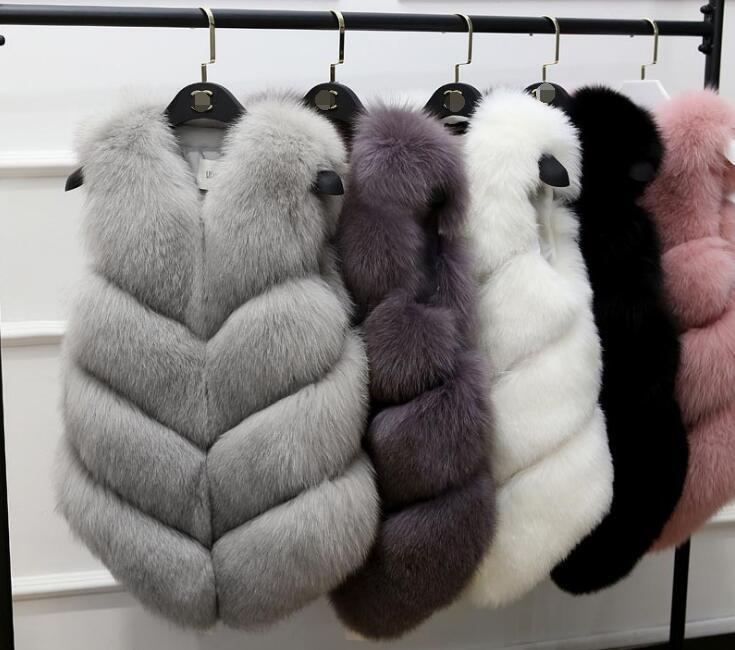 Gilet giacca casual del gilet di pelliccia del faux delle donne autunno inverno di nuovo caldo di inverno delle donne era sottile adatta sottile Cappotto di pelliccia rivestimento della tuta sportiva senza maniche
