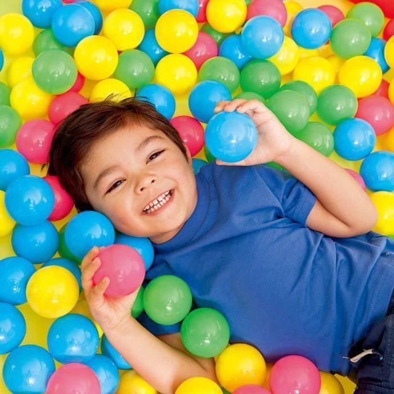 100 Pcs plástico macio colorido Water Pool Ocean Wave Bola Funny Baby Kids Brinquedos Estresse Air bola de plástico Oceano Piscina Acessórios
