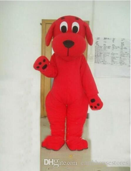 Hot sale 100% real images Red Dog Clifford mascot costume Suitable for the different festivals EMS free shipping different
