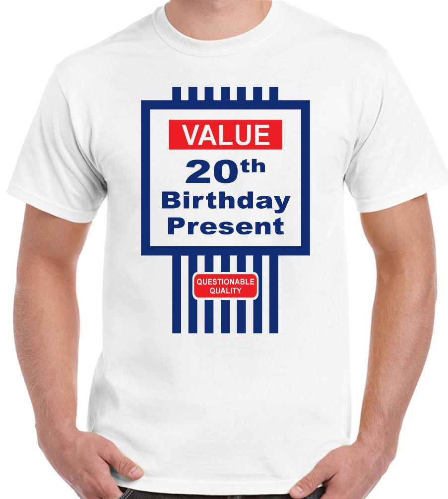 Mens Funny 20th Birthday T-Shirt Tesco Value Style