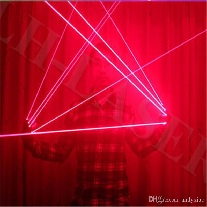싱글 레드 / 그린 / 블루 컬러 레이저 조명 장갑 댄서 및 재미 있은 파티 / chrismas 장갑 빛 장비 시스템