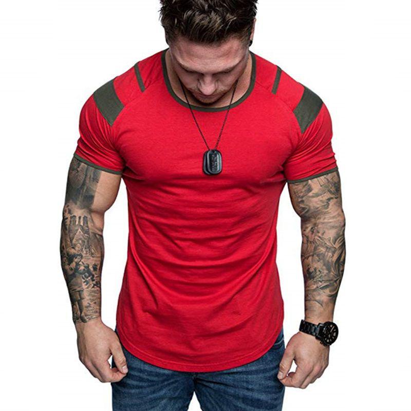 Neuester Sommer Splicing Kurzarm Baumwolle T-Shirt Mann-beiläufig O-Ansatz Hip Hop-T-Shirt Top Männer lose dünne Tees Tops US-Größe M-3XL MX200509