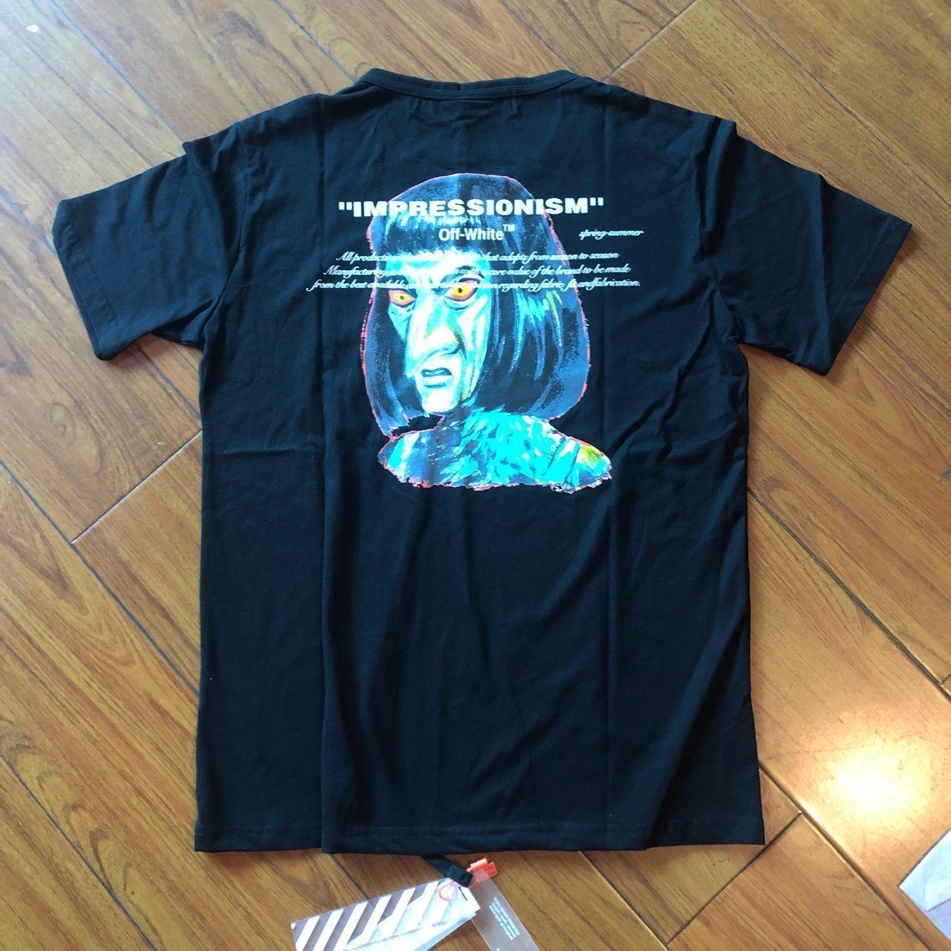 2020 mens OWW T-shirt do desenhista de luxo high street marca maré US moda alienígena carta olho verde par impressão Verão Mulheres de manga curta